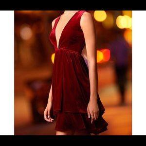 Gianni Bini Wine Velvet Dress